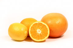 Citrus isolated on white stock photography