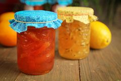 Citrus jam Royalty Free Stock Photo