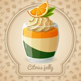 Citrus jelly card Royalty Free Stock Images