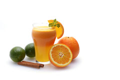 Citrus juice and fruits Royalty Free Stock Image