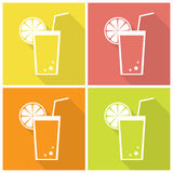 Citrus juice icons Stock Image