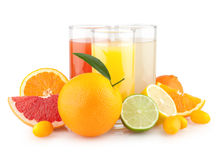 Citrus juices Stock Image