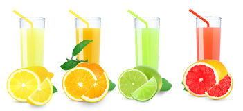 Citrus juices Stock Photography