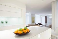 Citrus on kitchen worktop Royalty Free Stock Image