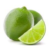 Citrus lime fruit isolated on white background cutout Stock Photos