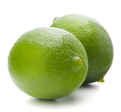 Citrus lime fruit isolated on white background cutout Royalty Free Stock Images