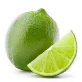 Citrus lime fruit isolated on white background cutout Royalty Free Stock Image