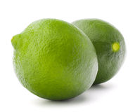 Citrus lime fruit isolated on white background cutout Stock Images