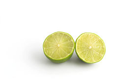Citrus lime fruit isolated on white background Stock Photos