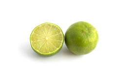 Citrus lime fruit isolated on white background Stock Photography