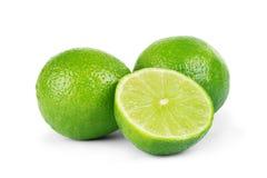 Citrus lime fruit isolated on white background cutout Stock Image