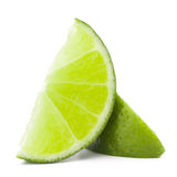 Citrus lime fruit segment isolated on white background cutout Royalty Free Stock Photography