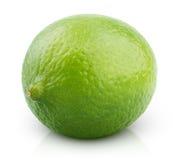 Citrus lime fruit  on white Royalty Free Stock Photos