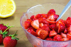 Citrus Macerated Strawberries Royalty Free Stock Photos