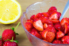 Citrus Macerated Strawberries Stock Image