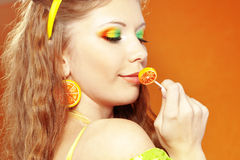 Citrus makeup Stock Image