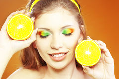 Citrus makeup Stock Images