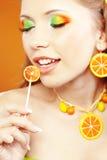 Citrus makeup Stock Photography