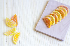 Citrus marmalade. Tasty sweet desert stock photography