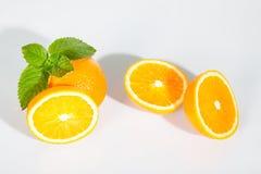 Citrus med mintkaramellsidor Royaltyfri Foto