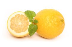 Citrus and mint Royalty Free Stock Images