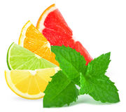 Citrus and mint Royalty Free Stock Image
