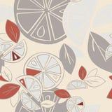 Citrus Mix för Seamless bakgrund Arkivbilder