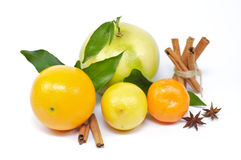 Citrus mix with spices Royalty Free Stock Photos