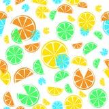 citrus Modelo inconsútil stock de ilustración