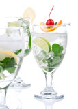 Citrus Mojito cocktails with light rum, Royalty Free Stock Image