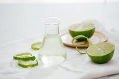 Citrus oil lemon natural over bright background.  stock images