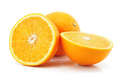 Citrus orange fruit isolated on white Royalty Free Stock Photography