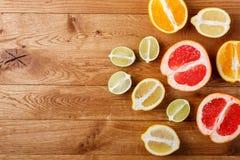 citrus orange pamela för samlingsgrapefruktcitron Arkivfoto