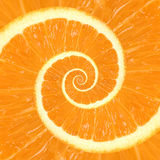 Citrus Orange Spiral Background. Fresh citrus orange recurring spiral close-up background Stock Photography