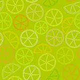 Citrus outline seamless pattern Royalty Free Stock Image