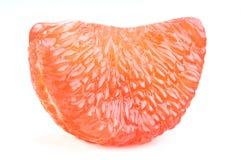 Citrus paradisi or grapefruit peeled  on white backgroun Stock Photos