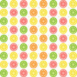 Citrus Pattern background. Cute citrus fruits pattern on a white background Stock Illustration