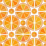 Citrus pattern with orange slices Royalty Free Stock Images