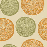 Citrus pattern Royalty Free Stock Photography