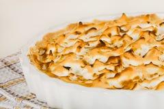 Citrus pie dessert stock image