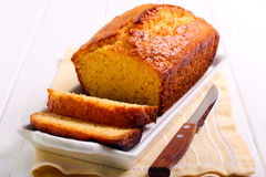Citrus polenta cake Stock Photos