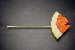 Citrus pomelo fruit concept love Stock Photography