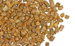 Citrus pulp pellets Royalty Free Stock Image