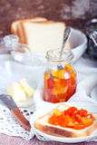Citrus and pumpkin marmalade Royalty Free Stock Image