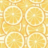 Citrus sömlös bakgrund för vektor royaltyfri illustrationer
