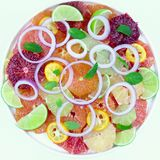 Citrus sallad Arkivbilder