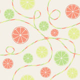 Citrus seamless pattern with orange, lemon and lim Stock Images