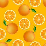 Citrus seamless pattern with oranges royalty free illustration