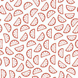 Citrus seamless pattern. Slices of tropical fruits Royalty Free Stock Photo
