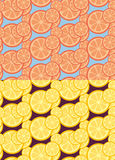 Citrus seamless patterns Royalty Free Stock Photos